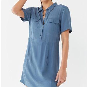 NWT Urban Outfitters Lou Collared Mini Shirt Dress